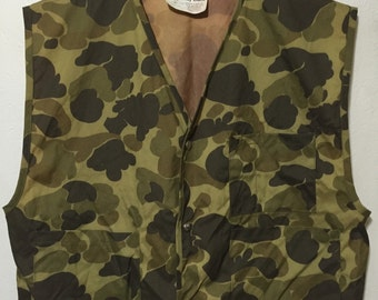 80's vintage camouflage hunting vest fishing
