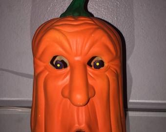 Halloween Pumpkin Jackolantern Face-Scioto Light up Head-Vintage 1989