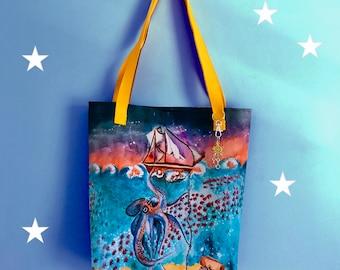 Tote Bag Under the Sea Illustration