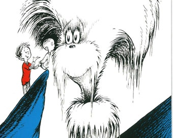Beautiful, amazing Dr. Seuss print, Oh Beyond Zebra! , Large print 9 x 12 inches