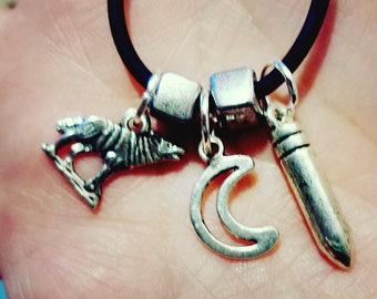 "Limited Edition -  ""Howlin' For You"" Supernatural-inspired charm necklace!"