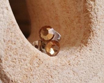 Light Colorado Topaz Stud Earrings, Unisex