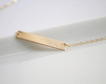 KAPPA KAPPA GAMMA Necklace / Sorority Necklace / Sorority Bar Necklace /Greek Jewelry / Sorority Gift / Sorority Jewelry / Licensed Designer