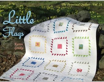 Little Flags Quilt Pattern, PDF Quilt Pattern, Modern Quilt Pattern, Easy Quilt Pattern, qtm
