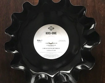 "Record Bowl - Classic Hip Hop 12"" Vinyl - Vintage 90's Hip Hop Vinyl Collectible - KRS-One KRS-One 12"" LP"
