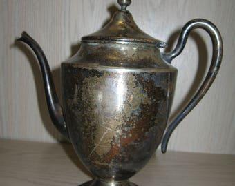 """National Silver Co Tea Pot #1001 Silver Plate 9 1/4 """" High Circa 1904"""