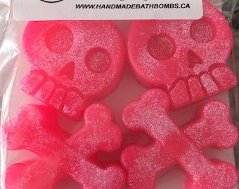 Pink Glittet Skull Soap