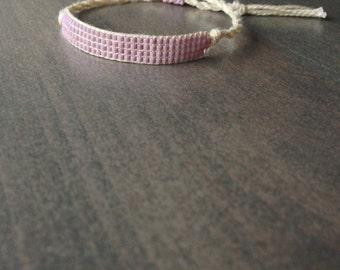 Bead Loom Bracelet, Friendship Bracelet - Pale Orchid,Matte Opaque Lilac  (875)