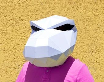 DIY T-Rex Dinosaur Mask.   T-Rex mask   Dinosaur Mask   papercraft   Halloween mask   Dinosaur   Paper Animal