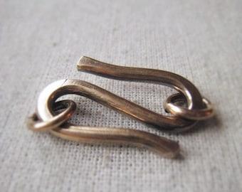 Gold Hook Clasp Parcel Oxidized Brass S Clasp Antique Gold Closure Item No. 2600