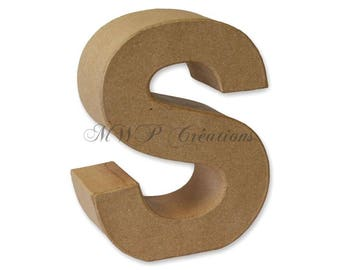 "Letter 3D ""S"" to ""Z"" (cardboard/paper mache) to customize"