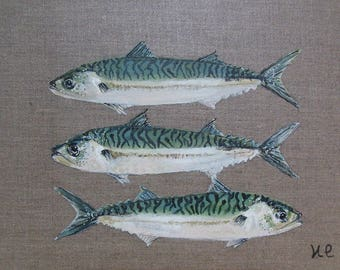 FISH painting on canvas