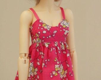 Baby Doll flower print dress for MSD Minifee/Unoa, Slim Mini
