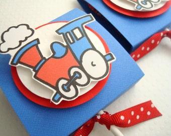 Anniversaire former les faveurs de Lollipop, bleu et rouge, ensemble de dix