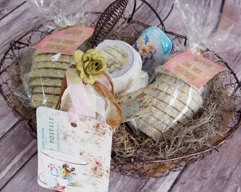 Cookies & Jam Gift Basket ~ Shortbread Cookies ~ Jam  ~ Edible Gift Basket ~ Food Gift Basket ~ Housewarming Gift ~ Hostess Gift