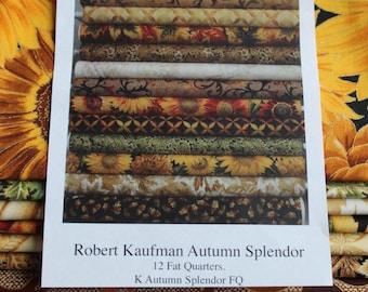 Fat Quarter Bundle - Autumn Splendor - 12 Fat Quarters Robert Kaufman
