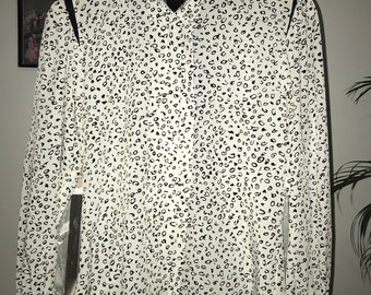 Striking vintage black and white shirt