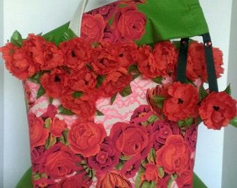 Fancy Floral Fiesta Tote Bag