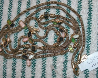 "Free US Shipping New w/Tags Classy Double Strand Ann Taylor Loft 30"" Necklace"
