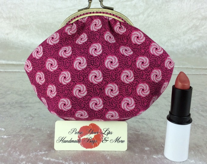 Handmade coin purse frame kiss clasp fabric change wallet pouch Shwe Shwe Roses