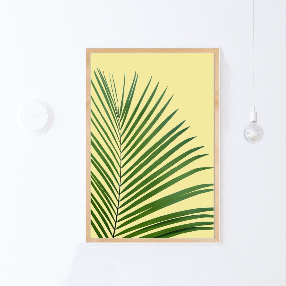 DIGITAL DOWNLOAD Art Printable Art Yellow Decor Palm Leaf