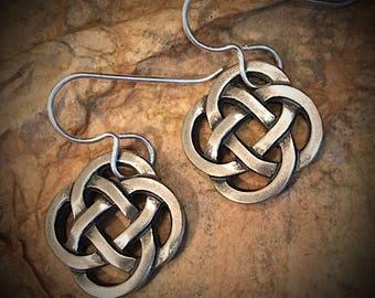 Artisan earrings #27...Celtic knot earring..silver plated