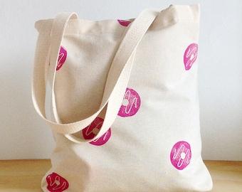 Purple Donuts tote bag