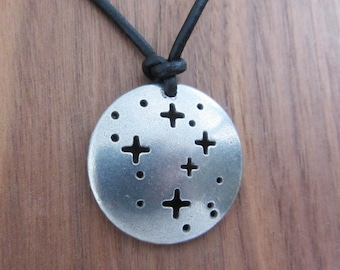 Southern Cross Pendant - Constellation Crux Necklace, Astronomy Jewelry, Science Jewelry