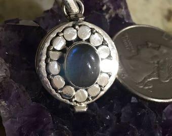 Labradorite Poison Box Pendant Necklace
