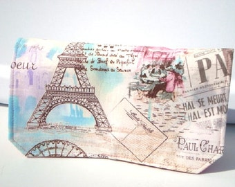 Coupon Organizer Cash Budget Organizer Holder- Attaches to your Shopping Cart -April in Paris