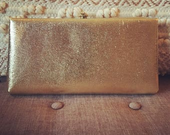 1960's Gold Oversize Clutch