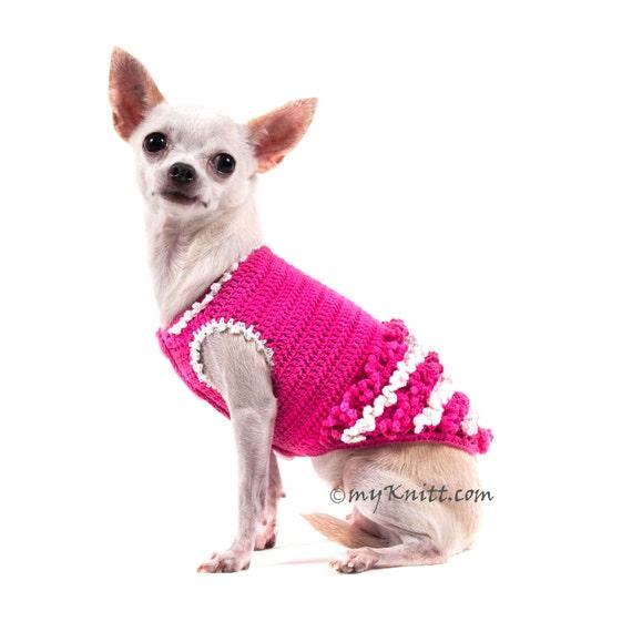Weiße Prinzessin rosa Hund Kleid Mädchen häkeln Rüschenkleid