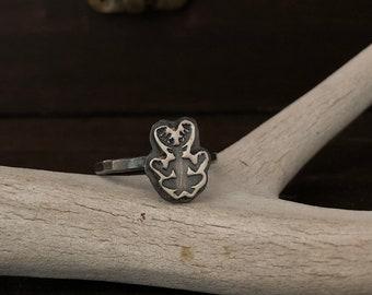 Cernunnos Ring - Horned God Ring - Pagan Ring - Witch Ring - Shaman - Tribal - Viking Jewelry - Antler Ring - Pagan Jewelry - Nature God