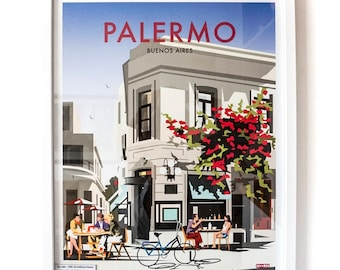 Palermo, Buenos Aires – Vintage Travel Poster