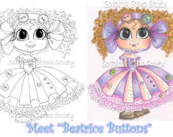 Digital Digi Stamps Beatrice Buttons Besties Big Head Dolls Digi By Sherri Baldy