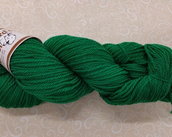 Shepherd's Wool - Worsted Spun Fine Wool - color #120517 Green
