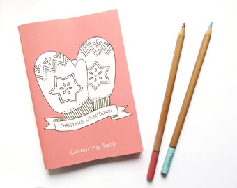 SALE Christmas Countdown Colouring Book - 70% off