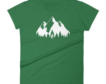 Bigfoot T-Shirt for Women/Sasquatch T-Shirt/Yeti Shirt/Short Sleeve T-Shirt/Bigfoot Believe/Sasquatch Believe/Forest T-Shirt/Tree Tshirt