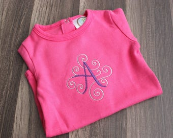 Monogrammed Onesie - Monogrammed Baby Bodysuit  - Initial Baby Bodysuit - Customized Baby Onesie - Personalized Baby Outfit - New Baby Gift
