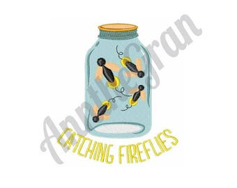 Catching Fireflies - Machine Embroidery Design