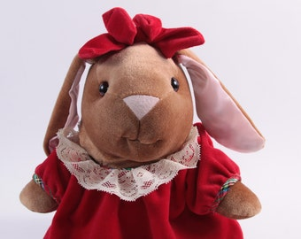 Vintage 1985 Velveteen Rabbit Girl Plush - Large Toys R Us Exclusive - Christmas ~ The Pink Room ~ 161030