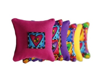 Bright & Colorful Catnip Pillows (set of 6)