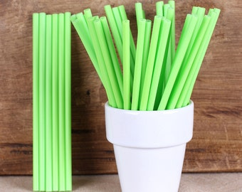 Lime Green Lollipop Sticks, Small Green Cake Pop Sticks, St. Patrick's Lollipop Sticks, St. Patrick's Cake Pop Sticks, Sucker Sticks