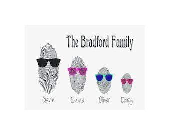 Family Fingerprint Gift Print Personalised