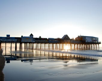 Old Orchard Beach Pier - Old Orchard Beach - Maine - USA - Photo - Print