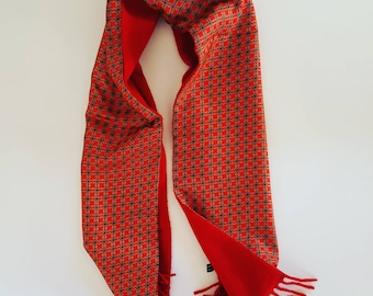 Vintage double sided silk / wool stole