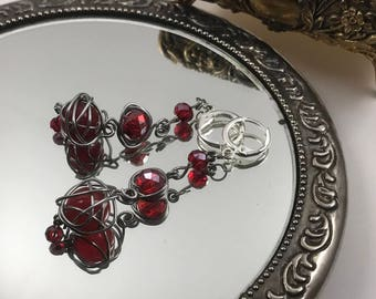 """Elusive--Scarlet Crystal Earrings - from the """"Pimpernel"""" Collection"""