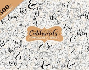 Catchwords, ampersands & swirls - Vector resources - Wedding invitations