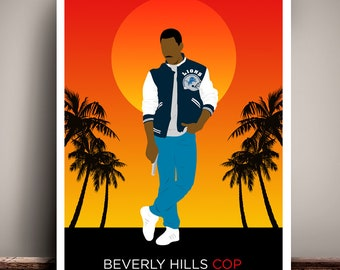 Beverly Hills Cop // Minimalist Movie Poster // Unique Art Print // Available in 5 Sizes