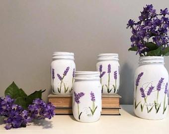Lavender mason jars